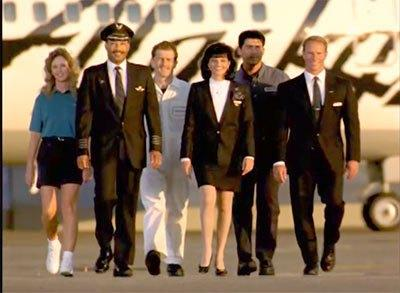 Alaska Airlines uniforms from the 1990s. Photo courtesy Alaska Airlines