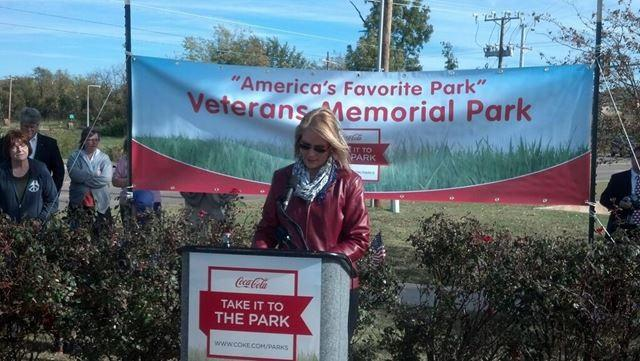 """This park represents a moment in time, it represents are freedoms."" Kathy McMillian Veterans Memorial Park Committee."