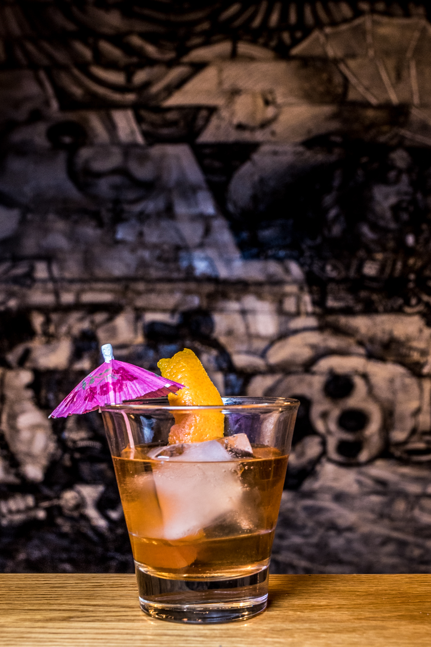 Mezcal Old Fashioned: mezcal, tequila, Angostura and orange bitters, agave simple syrup, and an orange peel garnish / Image: Catherine Viox // Published: 3.3.20