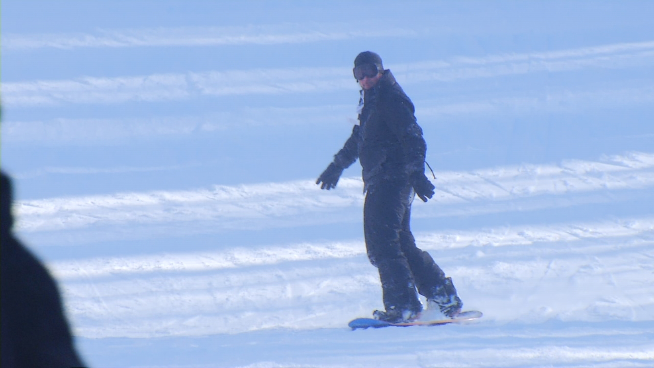 Wolf Ridge Ski Resort in Madison County opened Dec. 9, the day after the mountains saw the most snow. Since then, it has seen a steady flow of skiers and snowboarders. (Photo credit: WLOS staff)