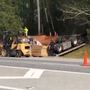 Tractor trailer flips on US 441 in Putnam Co.