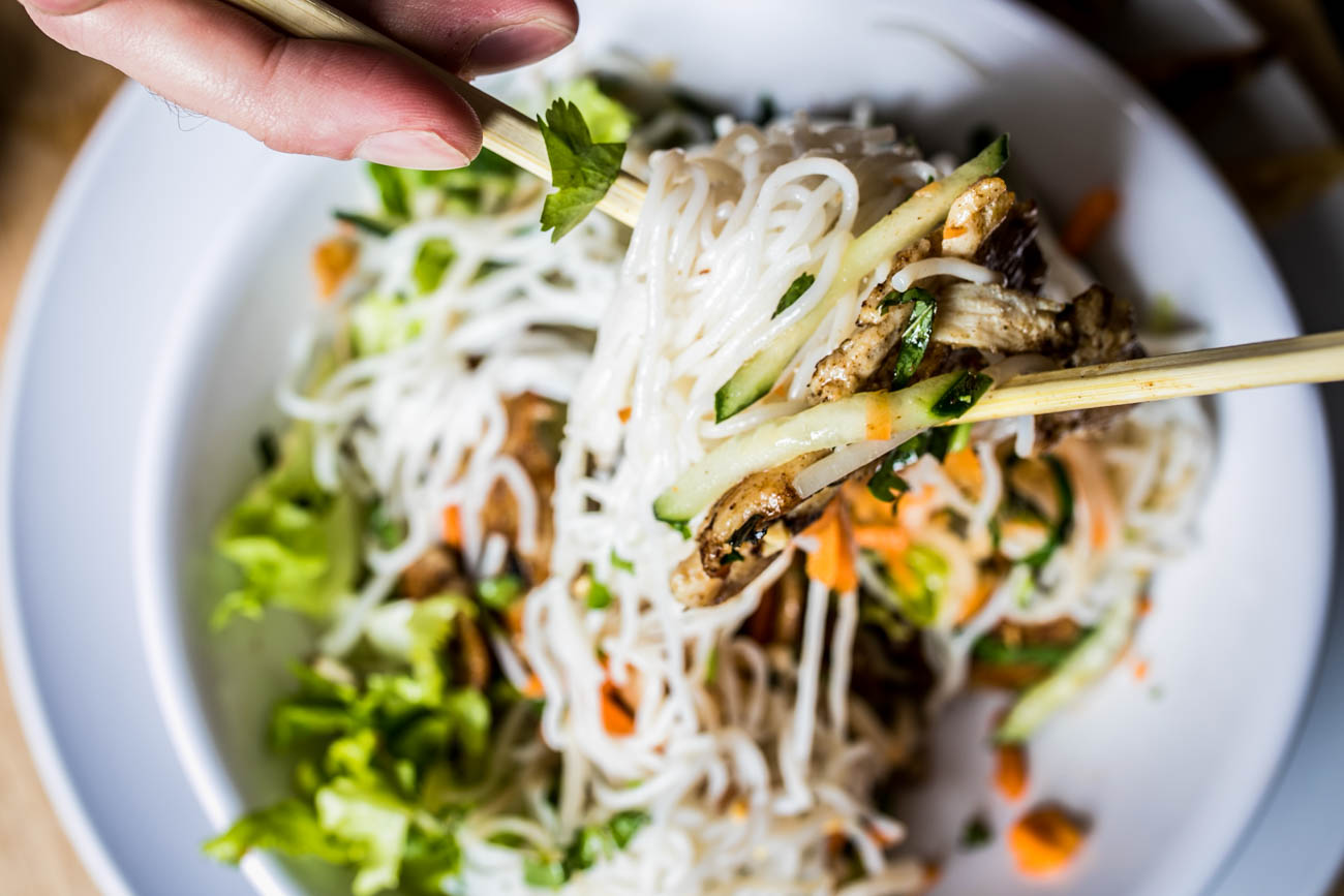 "PLACE: Pho Lang Thang / ADDRESS: 114 W Elder Street (Findlay Market) / EPISODE: Season 21, Episode 9: ""Soup-Centric"" / Guy called this Vietnamese restaurant ""a full cultural experience"" when he sampled the Pho Bo (beef and rice noodle soup) and their ""special"" Bahn Mi sandwich with headcheese and paté. If that's a bit outside of your comfort zone, the menu also offers pork, beef, chicken, vegetarian, and even vegan options to please every palate. / Image: Amy Elisabeth Spasoff // Published: 8.18.19"