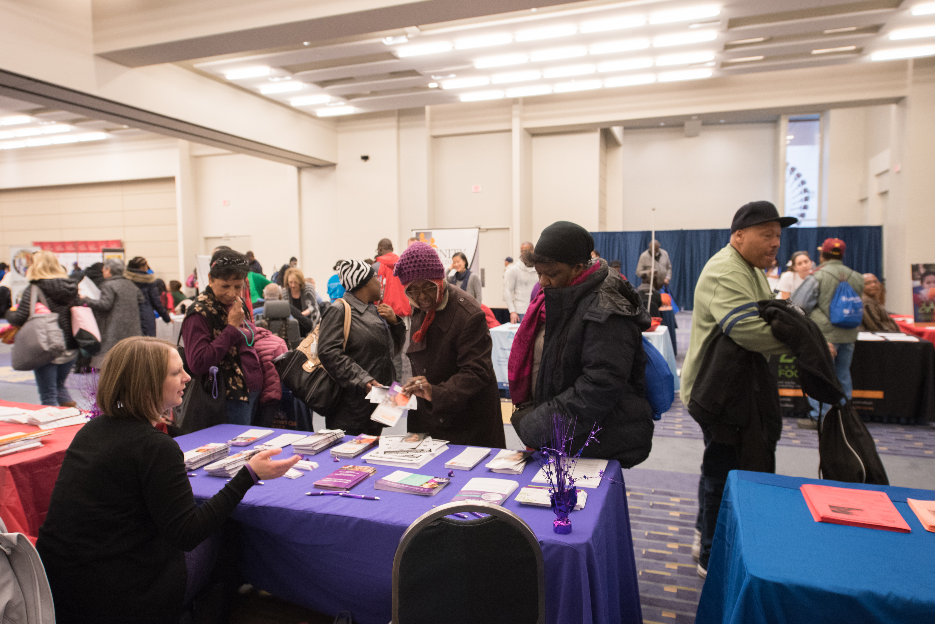 City residents in need also attend a health fair where they receive free screenings and flu shots. (Image: Courtesy Events DC)