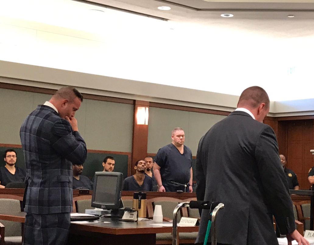 Standing room only in court: David Fensch's sentencing. Fensch is guilty of the DUI crash that killed Jaelan Fajardo, 16. (Kyndell Nunley | KSNV)