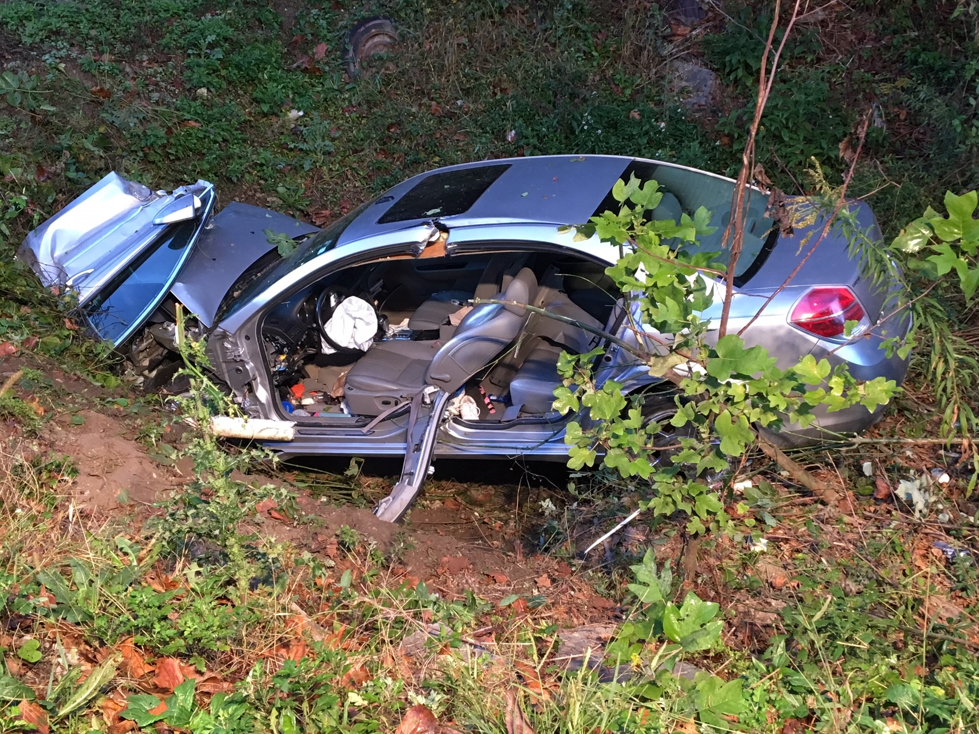 A Hernshaw woman was transported to a local hospital after a two-vehicle crash on Lens Creek in Marmet. (WCHS/WVAH)<p></p>