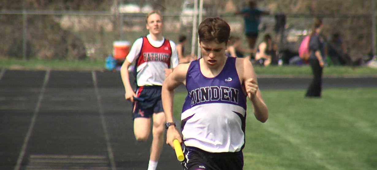 Minden's Aidan Wheelock competes in a rely for the Whippets. (NTV News)
