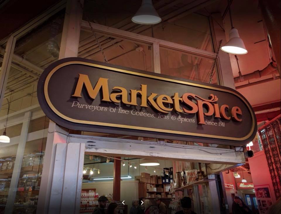 This Pike Place Market staple may not have a tasting station but it does have shelf upon shelf of glass jars with hundreds of different tea leaves and spices. (Image: MarketSpice Facebook){ }