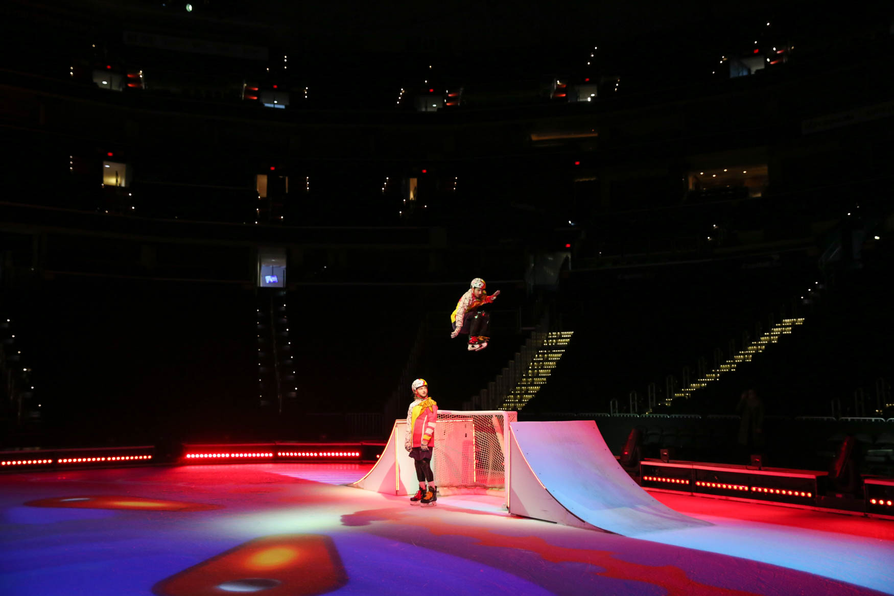 Crystal, Cirque du Soleil's show on ice, is coming to Capital One Arena tonight and will run through December 9. In addition to the usual high flying stunts, the performers will glide across the ice. To add to the{ } already high stakes, some of the performers had never even ice skated before joining to the performance. Here's a sneak peek of one of the acts you can catch at Crystal. (Amanda Andrade-Rhoades/DC Refined)