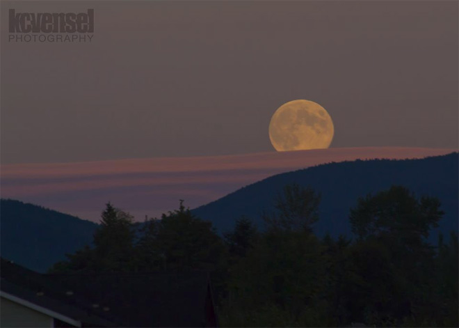 """Harvest Moon rising in Renton"" by KCVensel Photography."