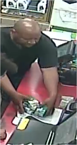 The Warwick Police Department is asking the public to help them identify a man accused of stealing cigarettes from a Warwick gas station. (Police photo)