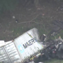 1 dead after tractor trailer crashes, catches fire off road in Maryland