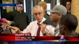 Dozens of protesters #OccupyCityHall, get audience with Mayor Hales