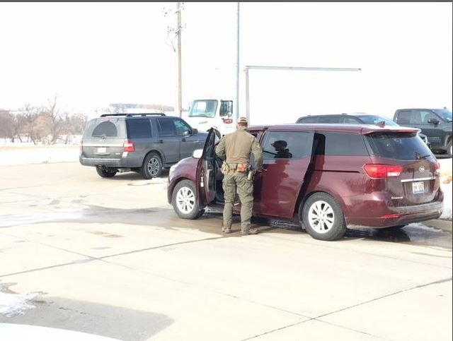 Law enforcement at Ho-Chunk headquarters in Winnebago