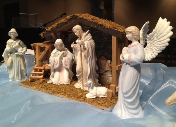 The Nativity scene inside New Hope.