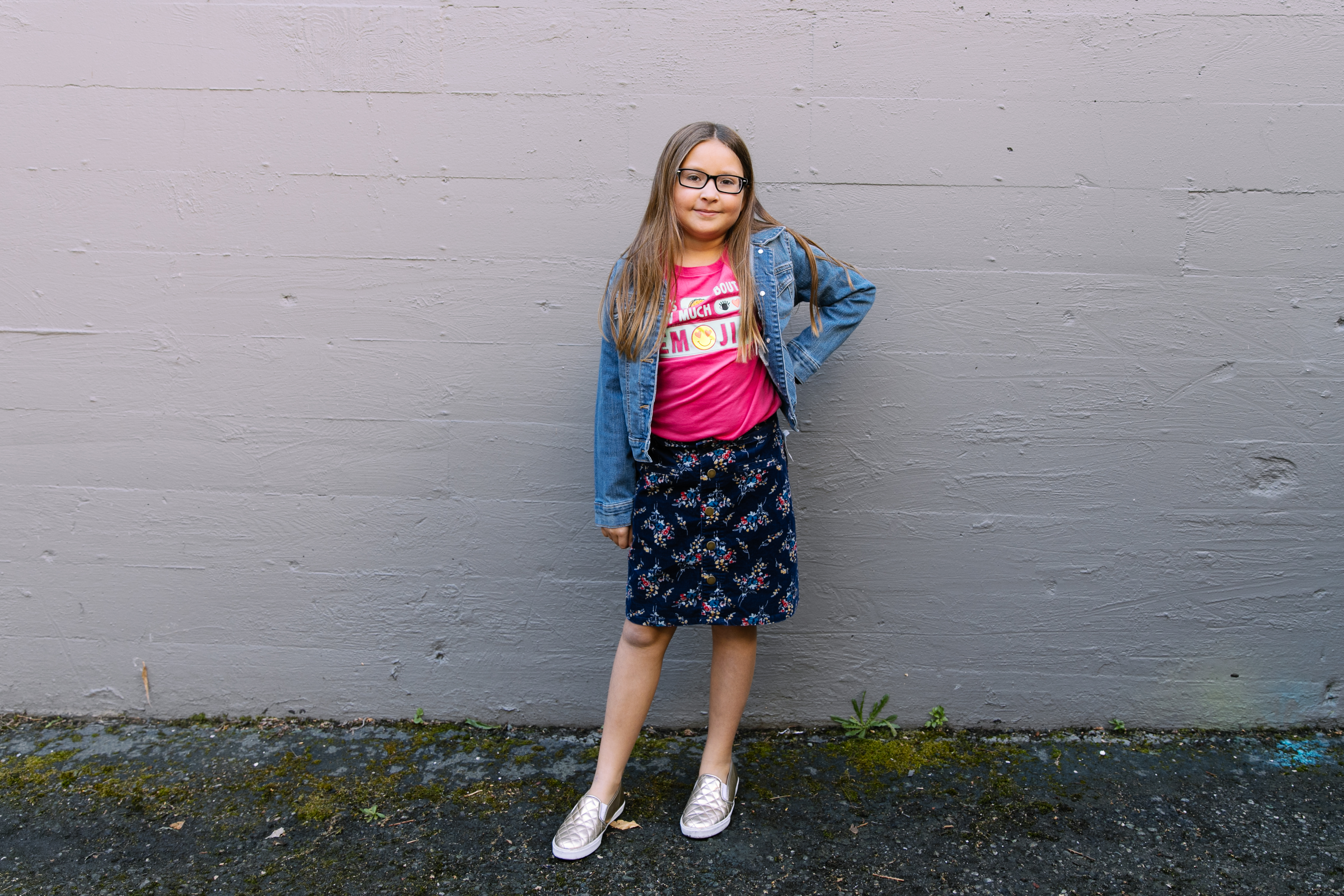 Seattle Goodwill is a great place to score back to school clothes that won't break that bank! Stylist Jessica Manning from Styled Seattle created 6{ } budget friendly and trendy looks for kids. (Photo Credit Joshua Lewis, Seattle Goodwill)