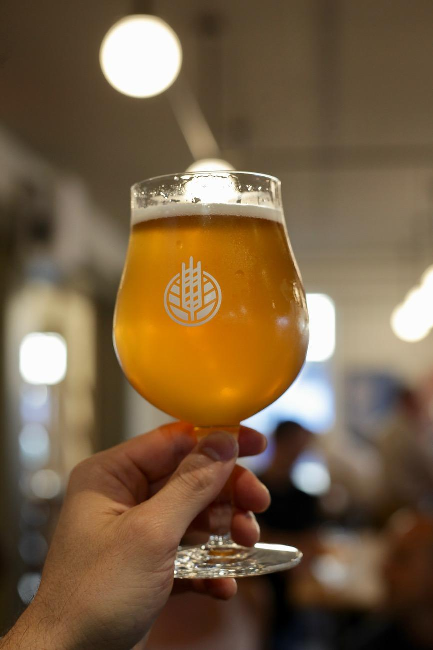 The Lemon Saison is one of HighGrain's 17 beers on tap. / Image: Chez Chesak // Published: 7.16.19