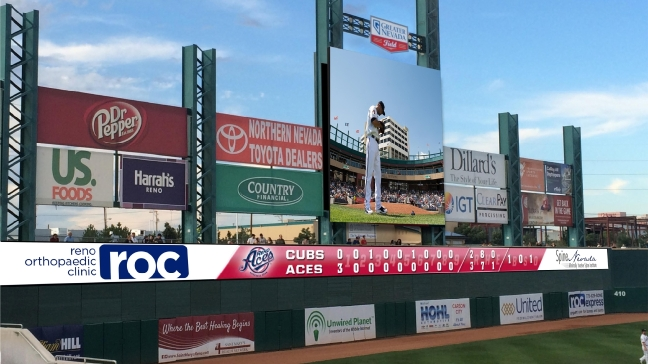 New video upgrades planned for Greater Nevada Field
