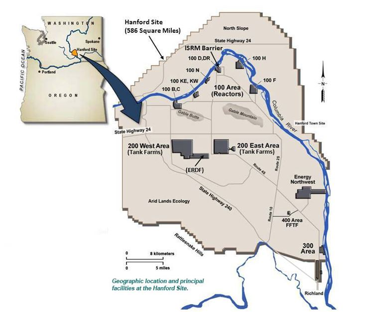 Hanford map