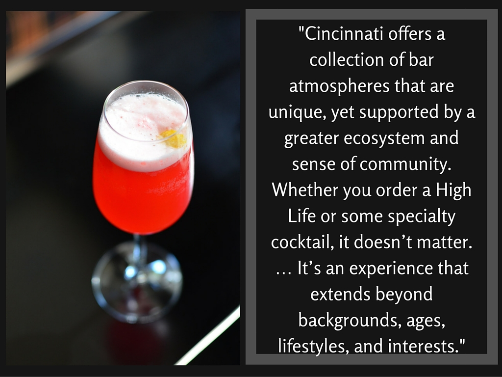 "FAVORITE DRINK TO MAKE: ""Tastes like Snozberries"" // IMAGE: Leah Zipperstein, Cincinnati Refined"