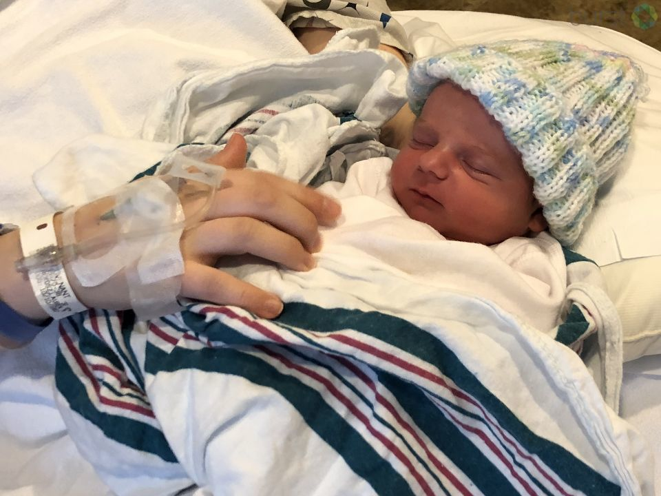 Baby Roman was born at Covenant HealthCare this morning at 5:17 a.m. (Photo Credit: Lauren Rokosz)