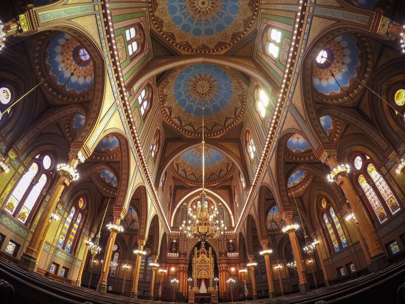 "Pictured: The interior of the Isaac M. Wise Temple from the story ""Historic Plum Street Temple Just Might Be The Most Beautiful Place In Downtown Cincy"" / Image: Phil Armstrong, Cincinnati Refined // Published: 12.31.17<p></p>"