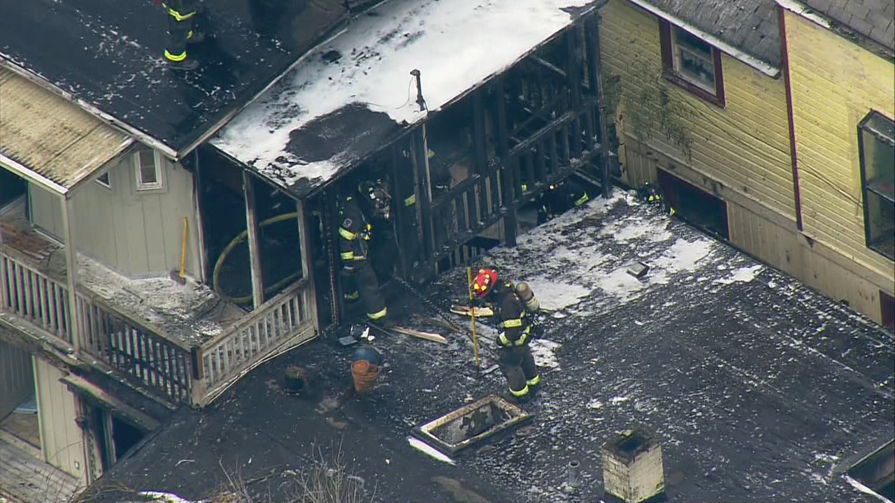 Seattle Firefighters douse a blaze at a building near Seattle University (Photo: KOMO News)