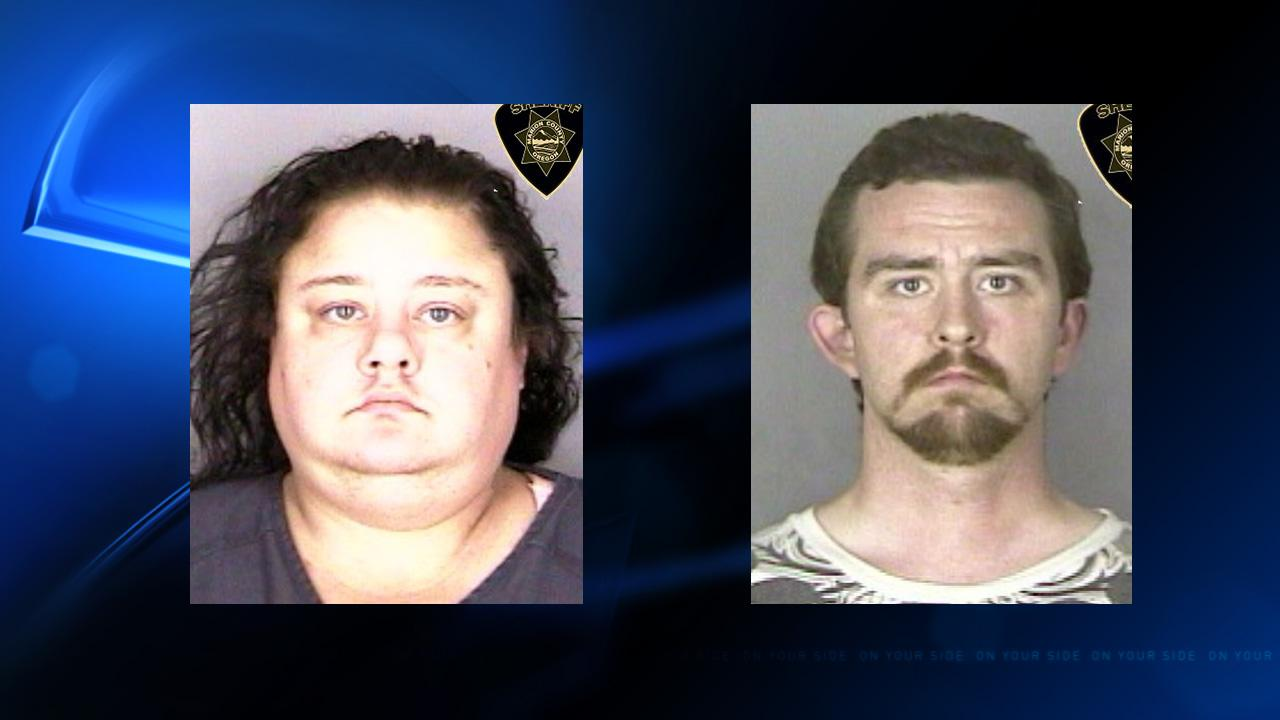 Tiffany Wickle and Jesthan Jackson are accused of burglarizing a Salem home (Photo courtesy Marion Co. Sheriff's Office)