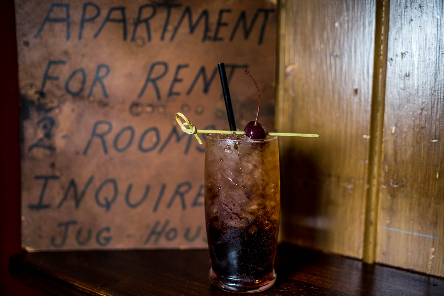 Cherry Coke: bourbon, can sugar cola, homemade cherry syrup, and fresh lime served in a highball over flaked ice / Image: Catherine Viox{ }// Published: 10.17.19