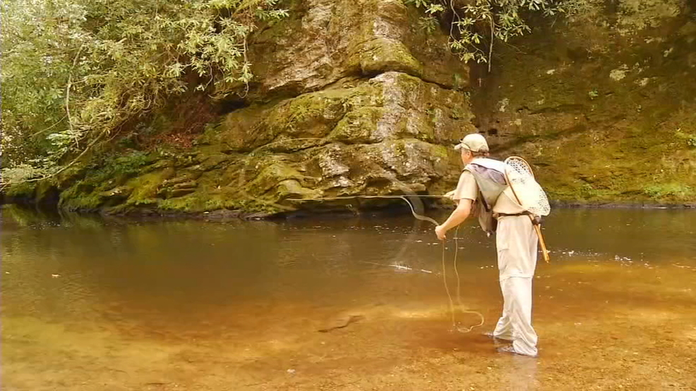 Hatchery supported trout waters in wnc to open april 7 wlos for North carolina trout fishing season