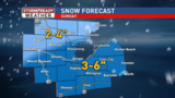 More snow Sunday, Winter Weather Advisory in effect