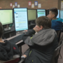 Students leaving local junior high school with Microsoft Office Specialist certification