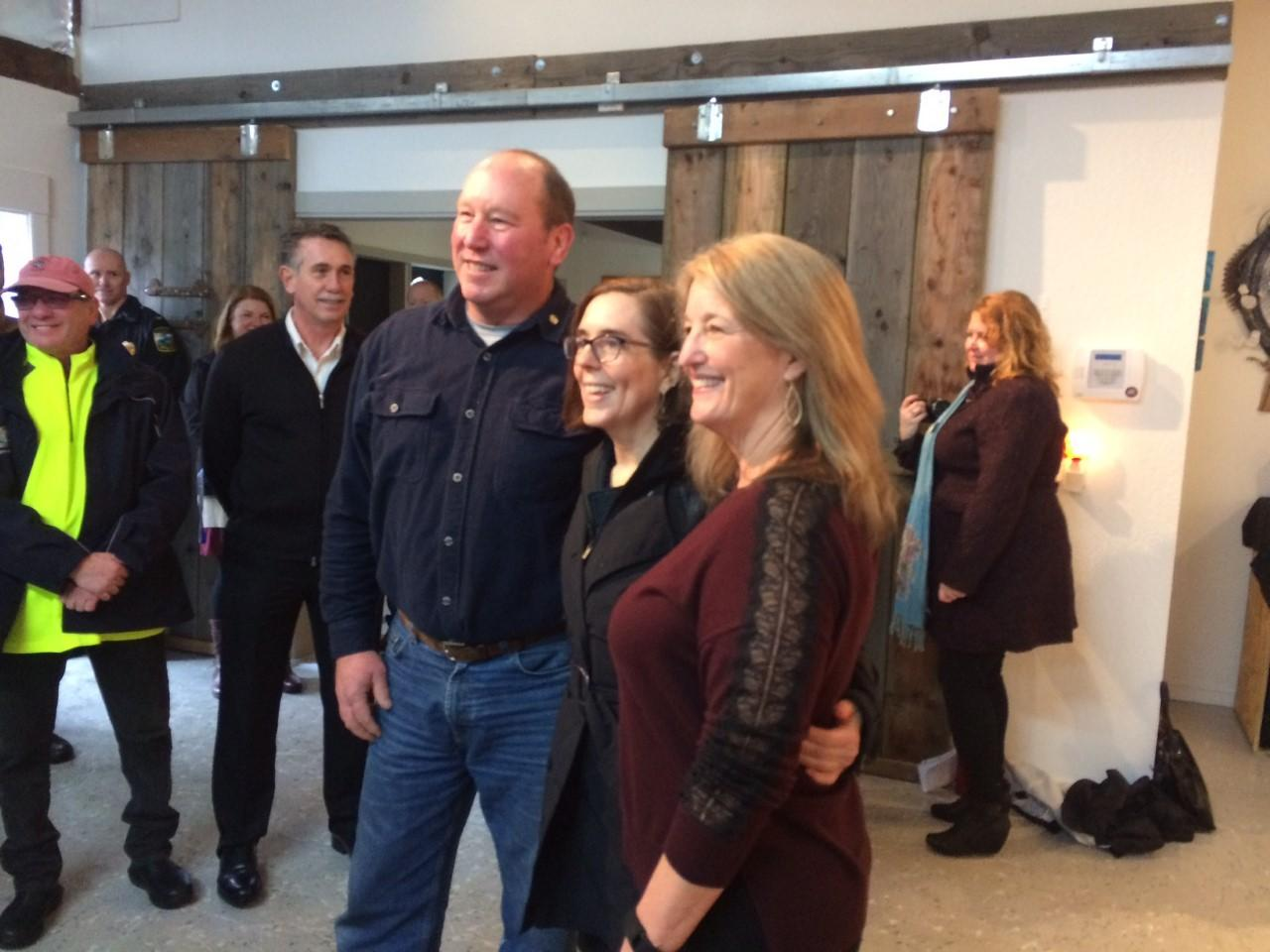 Gov. Kate Brown visited Florence Tuesday to discuss the city's recovering economy and how entrepreneurs are contributing to business development. (SBG photo)