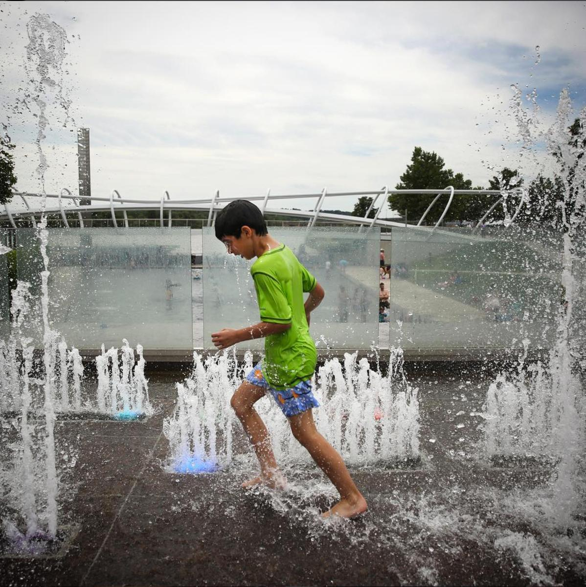 The Yards Park also has public water features that are super popular in summer. (Image via @moxie_manda)