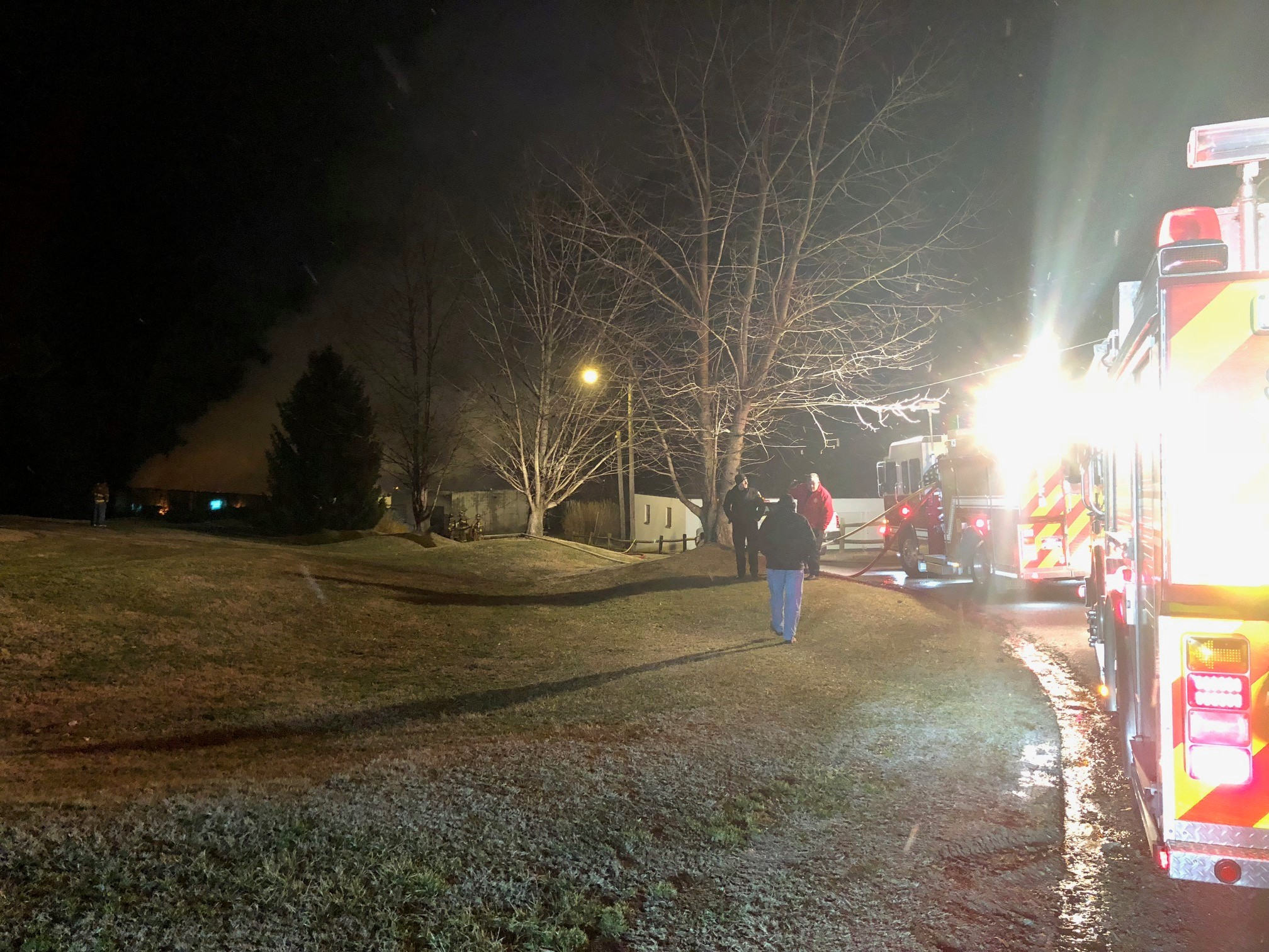 The South Charleston fire and police departments responded to the fire. (WCHS/WVAH)<p></p>