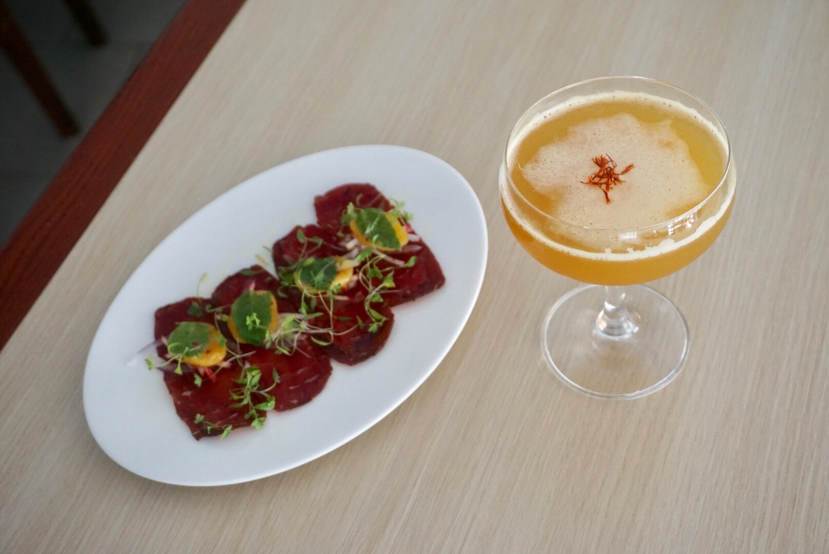 Sidecar to Tangier paired with Turkish Style Pastirma (Image: Courtesy Zaytinya)<p></p>