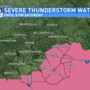 Severe Thunderstorm Watch for parts of Mid-State