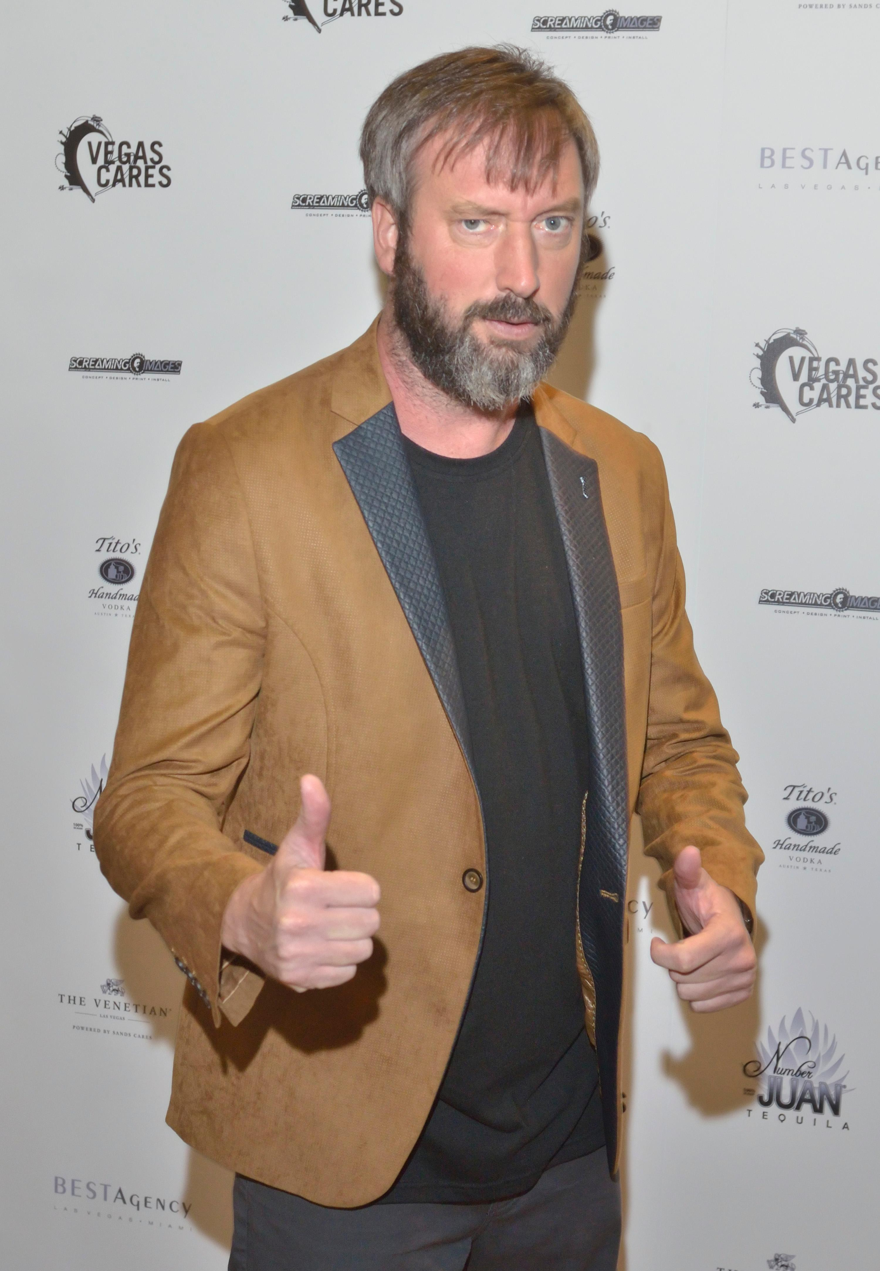 "Comedian Tom Green is shown at the ""Vegas Cares"" benefit concert at the Venetian Theatre in the Venetian hotel-casino at 3355 S. Las Vegas Blvd in Las Vegas on Sunday, Nov 5, 2017. The concert was sponsored by a group of Las Vegas entertainers, producers and business professionals to honor the victims and first responders from shooting at the Route 91 Harvest festival. (Photo/Las Vegas News Bureau/Bill Hughes)"