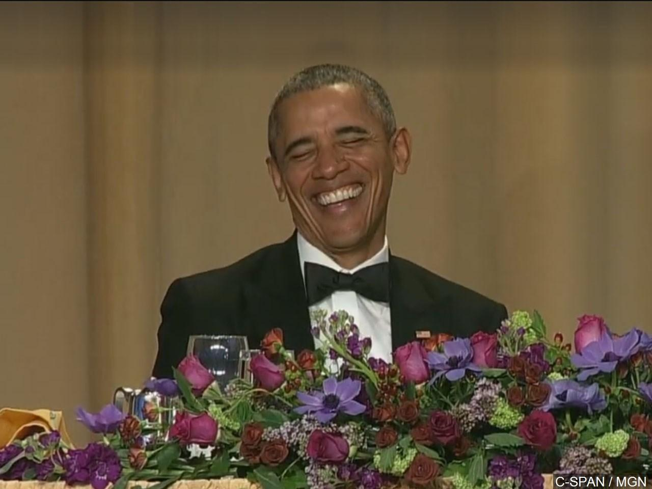 Obama laughing gif