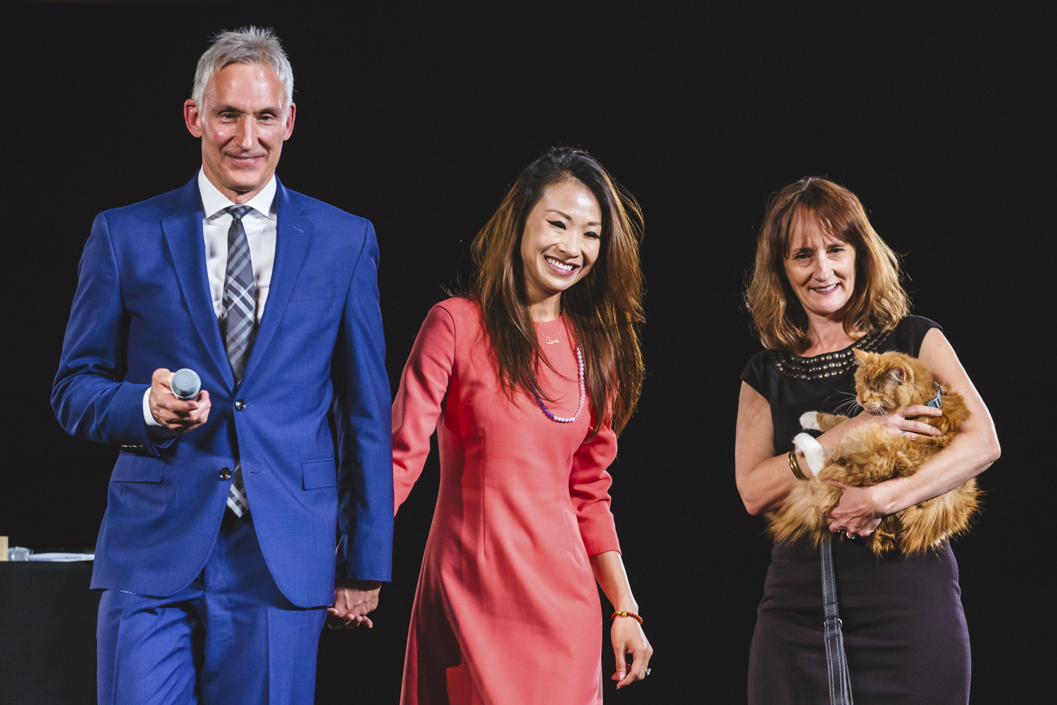 The 2018 annual Tuxes and Tails event raised more than $1.85 through donations, auctions, raffles and more this weekend (May 13, 2018). Local celebs walked adoptable cats and dogs down the runway at the Meydenbaur Center in Bellevue to a ballroom filled with animal people. All proceeds benefit animals in SHS's care. (Image: Sunita Martini / Seattle Refined)