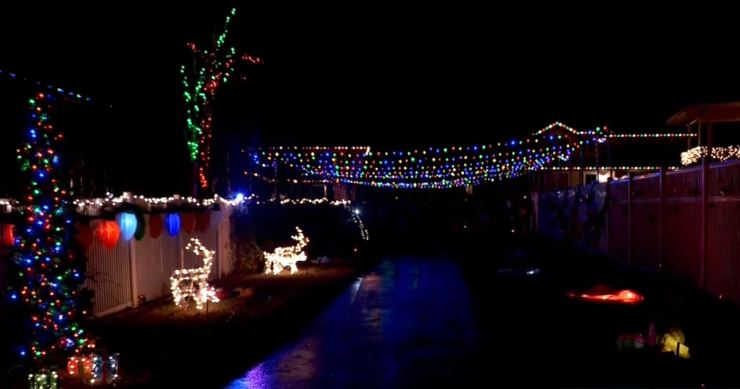 Neighborhood light display honors toddler who dies of cancer before Christmas (Photo: KUTV)