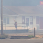 Woman faced flames with garden hose to save her business in Oakridge, Oregon