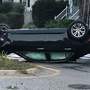 Car rolls over in Portland