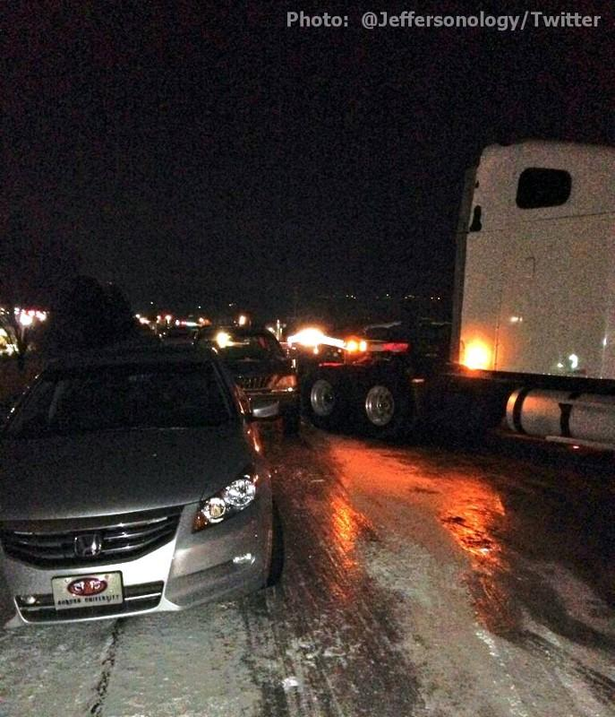 Multi-vehicle accident on Highway 280 near Brook Highlands Tuesday night, January 28, 2014.