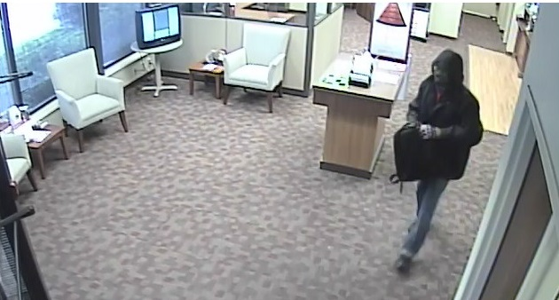 Surveillance photo shows a man who police say robbed the BB&T branch in Kanawha City. (Charleston Police Department)