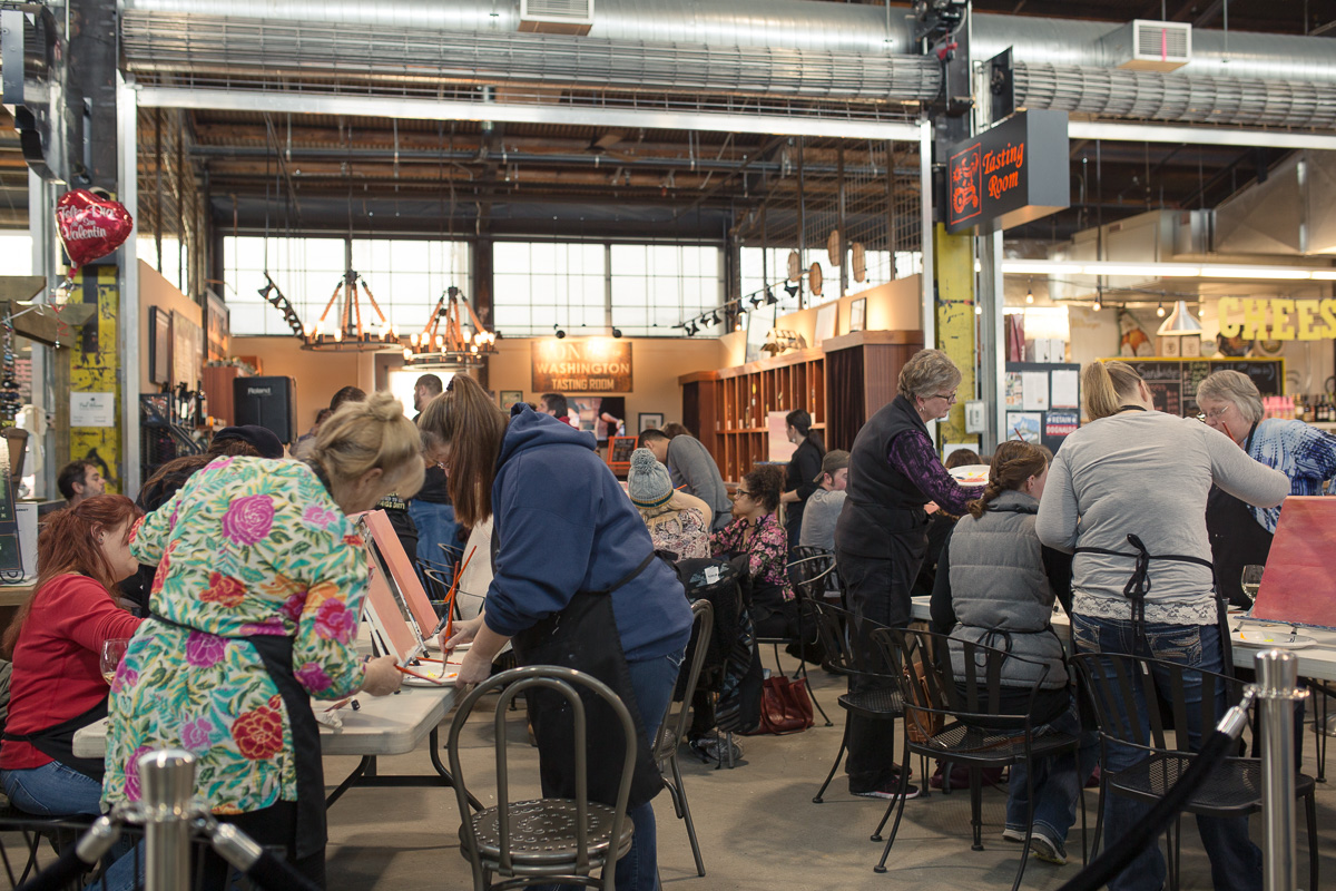 Art event at Pybus Market (Image: Paola Thomas / Seattle Refined)