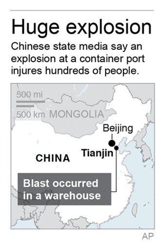 Map locates Tianjin, China.