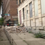 Falling debris from crumbling building leads to closure of bridge, streets in Saginaw