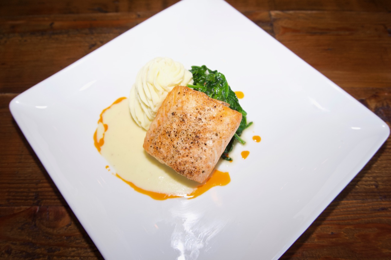 Roasted Scottish salmon with whipped potatoes, spinach, and a lemon beurre blanc / Image: Brian Planalp // Published: 5.14.18