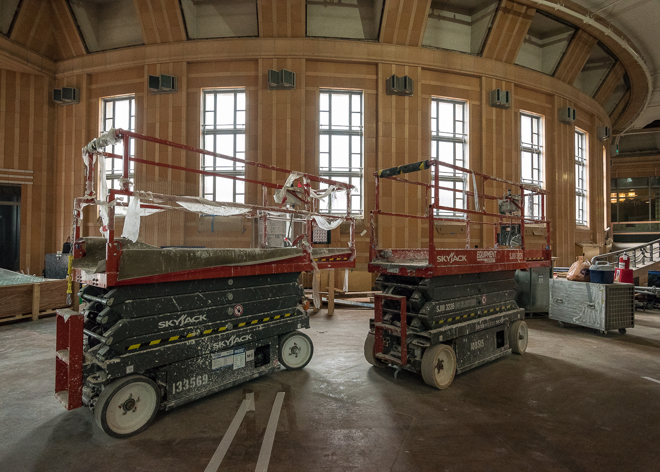 Media outlets were invited to tour the Cincinnati Museum Center at Union Terminal on Thursday, August 31. The $219 million restoration is both on time and on budget, and it's scheduled to conclude in Fall 2018. Along with the repairs it desperately needed, many new features are coming to the building, including the relocation of the Center for Holocaust and Humanity. / Image: Phil Armstrong, Cincinnati Refined // Published: 9.1.17