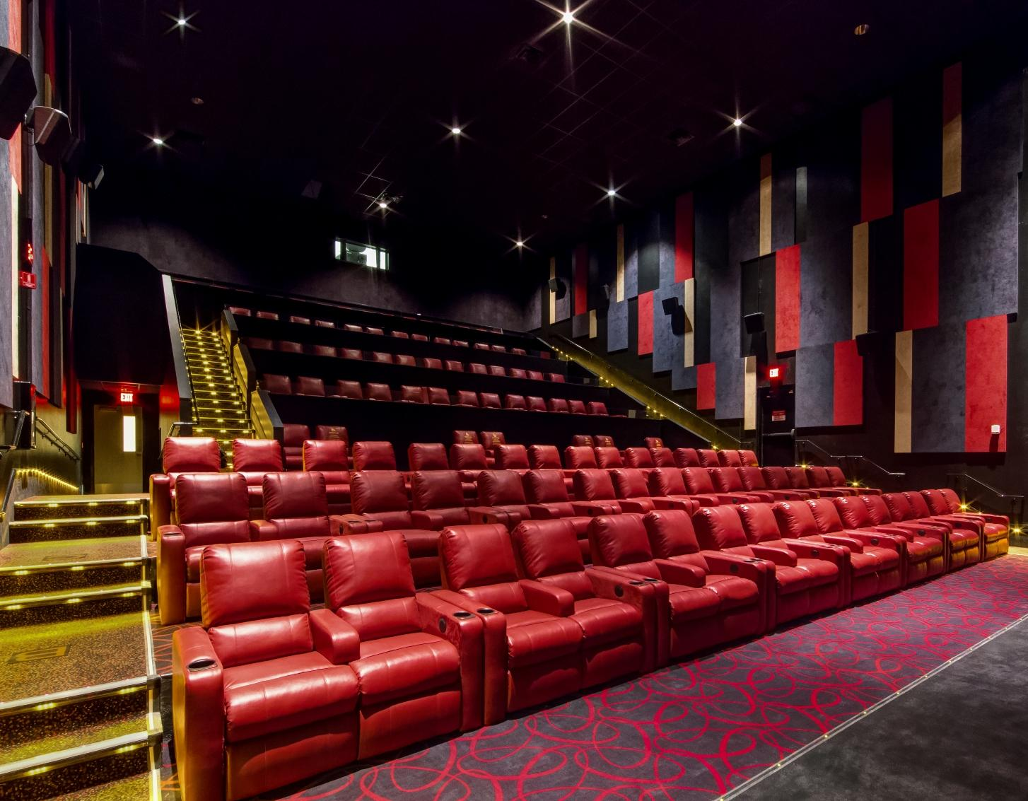 A photo provided by AMC Theatres on Friday, Aug. 4, 2017, shows a renovated auditorium at AMC Bakersfield 6 in Bakersfield, Calif. The theater is reopening Friday after renovations started in June.